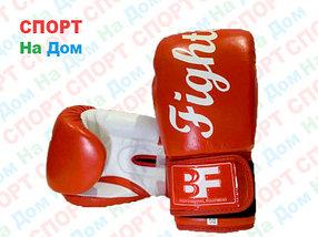 Боксерские перчатки FIGHTER кожа (красный)