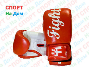 Перчатки для тайского бокса FIGHTER кожа (красный)