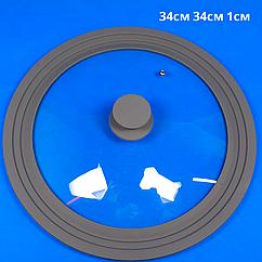 Крышка универсальная силиконовая диаметром 28, 30, 32 см,