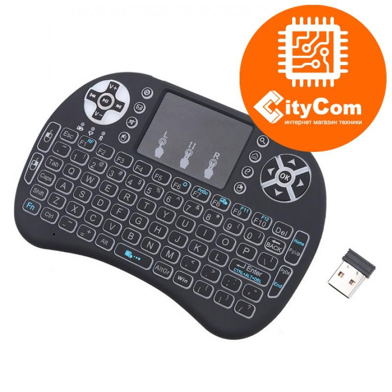 Мини клавиатура с тачпадом i8, QWERTY, Wifi, LED-подсветка Арт.5851