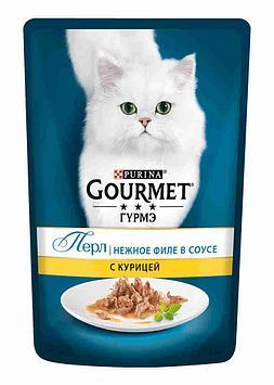 Gourmet Perle Влажный корм для кошек со вкусом Курица в соусе