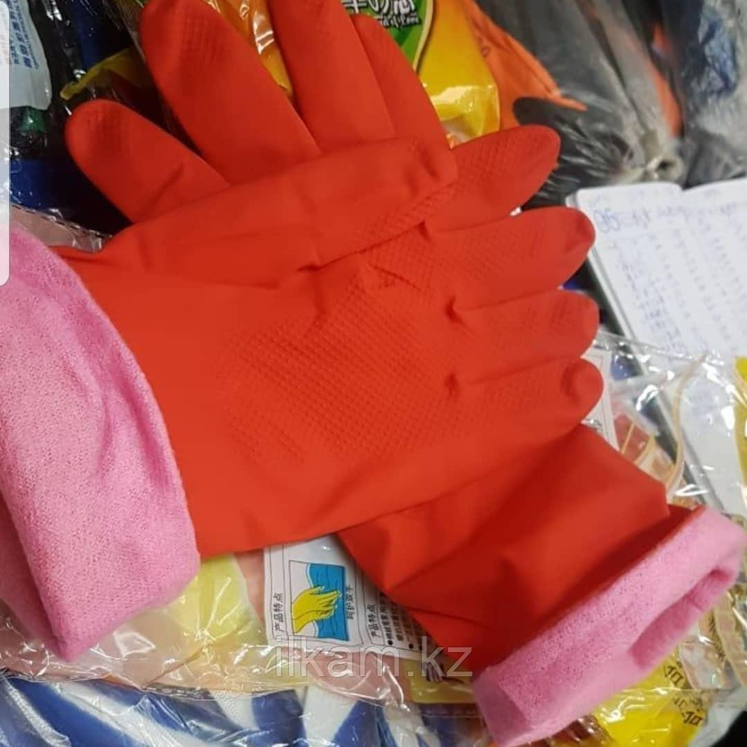 Перчатки резиновые утеплённые