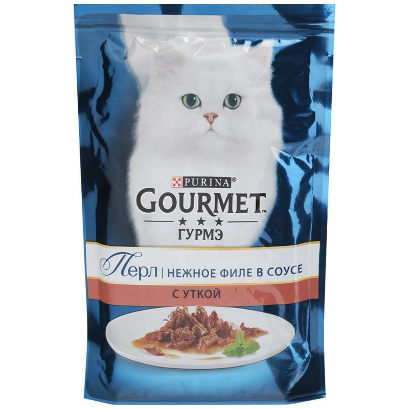 Gourmet Perle Влажный корм для кошек со вкусом Утка в соусе