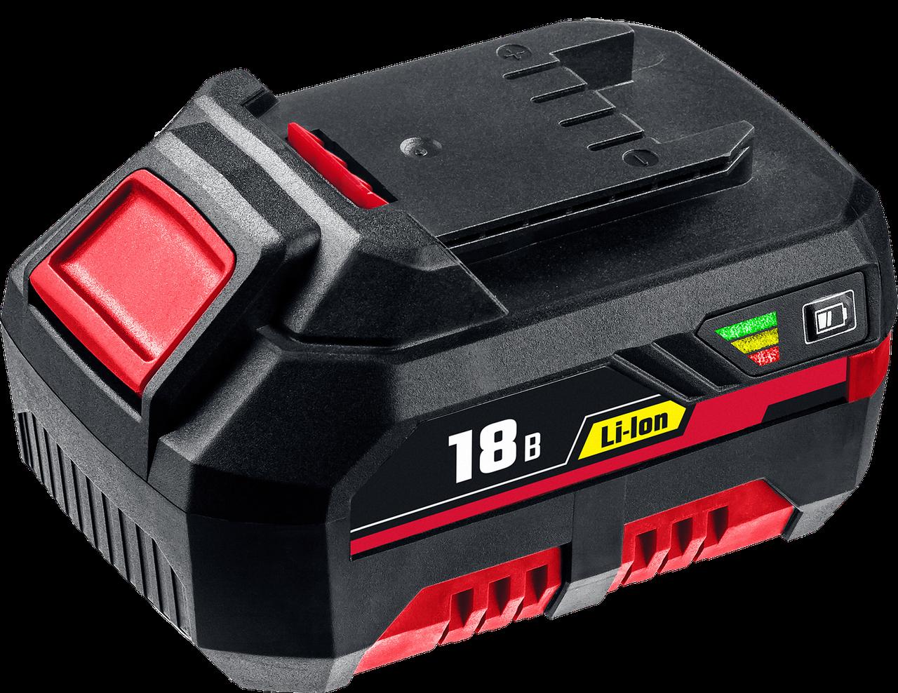 Аккумуляторная батарея для шуруповерта, Li-Ion, 18 В, C1 АКБ-18-3 С1, серия «СТАНДАРТ» ЗУБР