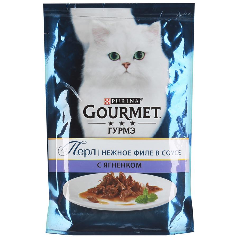 Gourmet Perle Влажный корм для кошек со вкусом Ягненок в соусе