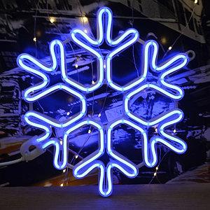 Светодиодная фигура снежинка 80*80, LED