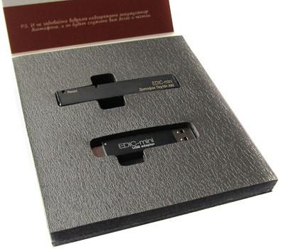 """Цифровой диктофон """"Edic-mini Tiny16+ A82"""" в комплекте с USB-адаптером поставляется в фирменной упаковке (нажмите на фото для увеличения)"""