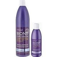 Серебристый шампунь для светлых оттенков для нейтрализации желтизны Concept silver shampoo for light-blond and