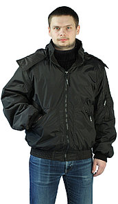 """Куртка мужская демисезонная """"БОМБЕР"""" цвет: Черный"""
