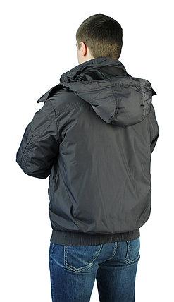 """Куртка мужская демисезонная """"БОМБЕР"""" цвет: Черный, фото 2"""