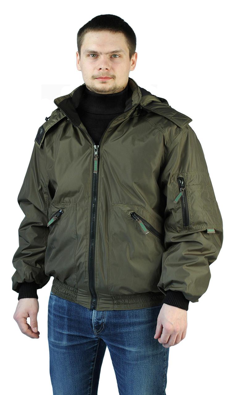"""Куртка мужская демисезонная """"БОМБЕР"""" цвет: Хаки"""
