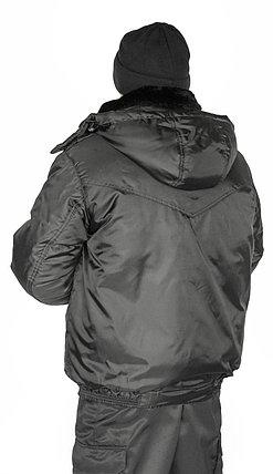 Куртка охранника мужская зимняя с капюшоном, фото 2