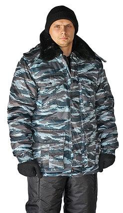 Камуфляжная мужская зимняя куртка охранника, фото 2