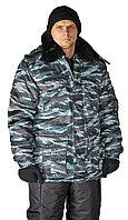 Камуфляжная мужская зимняя куртка охранника