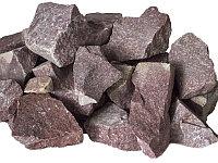 Банный камень кварцит Малиновый колотый - 20 кг.