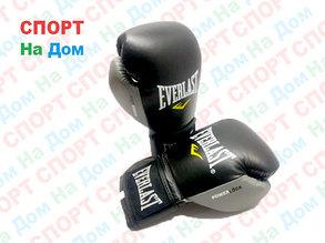 Боксерские перчатки EVERLAST кожа (цвет черный) 12,14,16OZ, фото 2