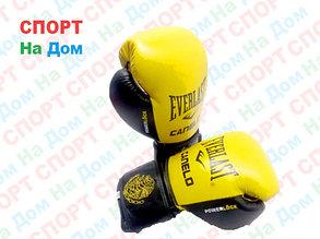 Боксерские перчатки EVERLAST Canelo кожа (цвет желтый) 12,14,16OZ, фото 2