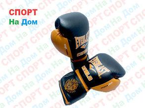 Боксерские перчатки EVERLAST Canelo кожа (цвет коричневый, черный) 12,14,16OZ, фото 2