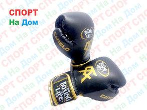 Боксерские перчатки No Boxing No Life Canelo кожа (цвет черный) 12,14,16OZ, фото 2