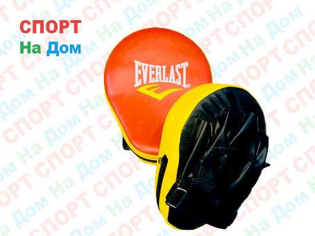 Лапы для бокса, каратэ, таэквондо Everlast кожзам (цвет красный, черный), фото 2
