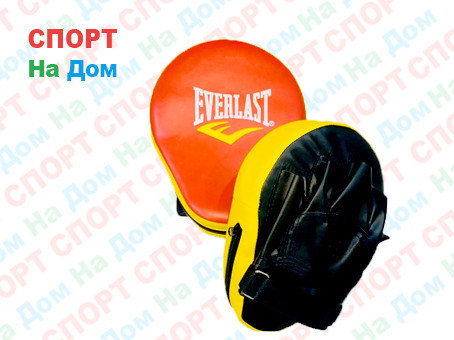 Лапы для отработки ударов Everlast кожзам (цвет красный, черный), фото 2