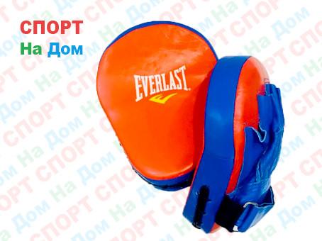 Лапы для бокса, каратэ, Everlast  кожзам (цвет красный, синий)