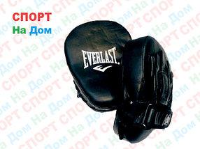 Лапы для бокса, каратэ,  Everlast кожзам (цвет черный)