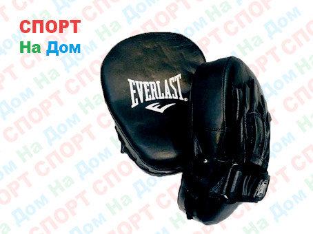 Лапы для бокса, каратэ,  Everlast кожзам (цвет черный), фото 2
