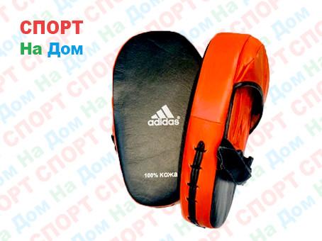 Лапы для бокса, каратэ, таэквондо Adidas материал кожа (цвет черный, красный)