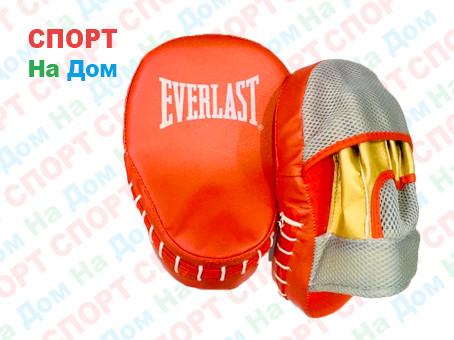 Лапы для бокса, каратэ, таэквондо Everlast кожзам (цвет красный)