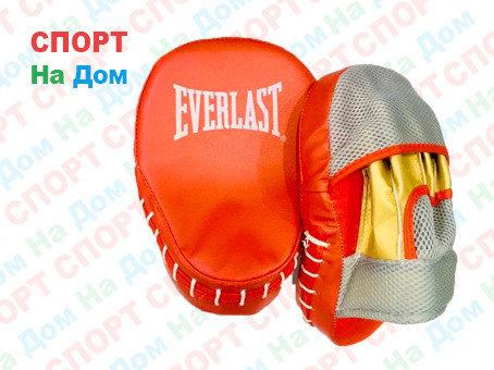 Лапы для бокса, каратэ, таэквондо Everlast кожзам (цвет красный), фото 2