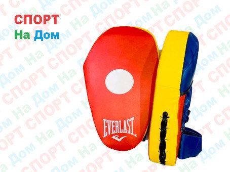 Лапы для бокса, каратэ, таэквондо Everlast кожа (цвет красный), фото 2