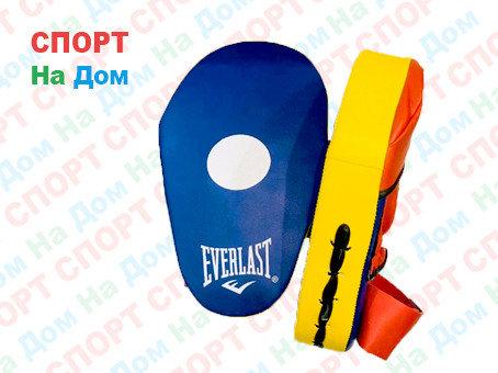 Лапы для бокса, каратэ, таэквондо Everlast кожа (цвет синий), фото 2