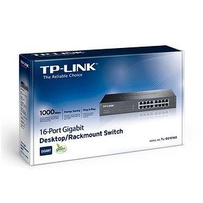 Коммутатор TP-Link TL-SG1016D настольный 16 портов, фото 2