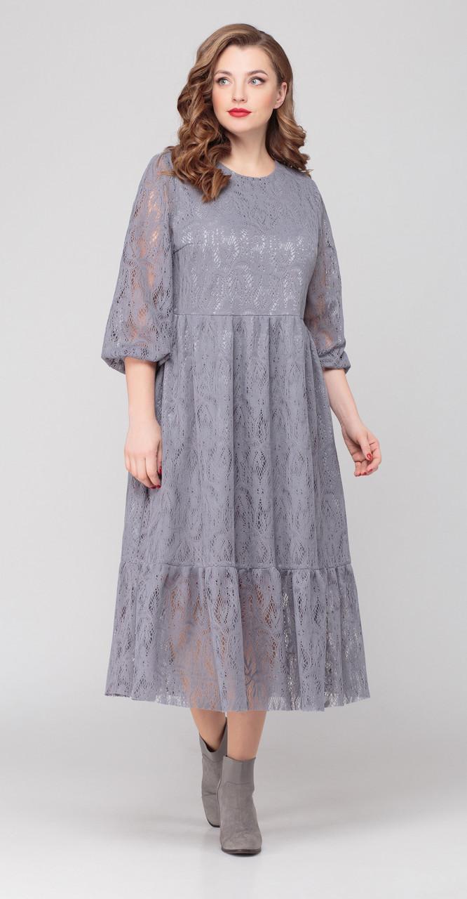 Платье Anna Majewska-М-1321 G, серый, 50