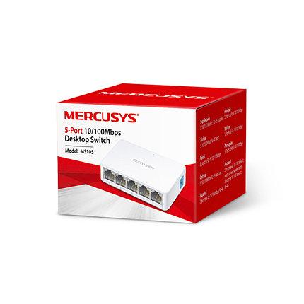Коммутатор Mercusys MS105 миниатюрный 5 портов, фото 2