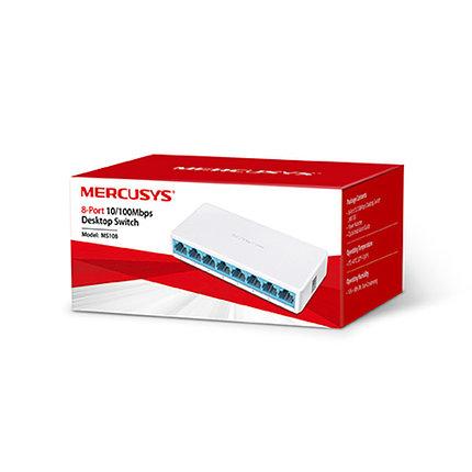 Коммутатор Mercusys MS108 миниатюрный 8 портов, фото 2