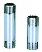 """Сгон-бочонок латунь никель Ду 15 (1/2"""") L=150 мм"""