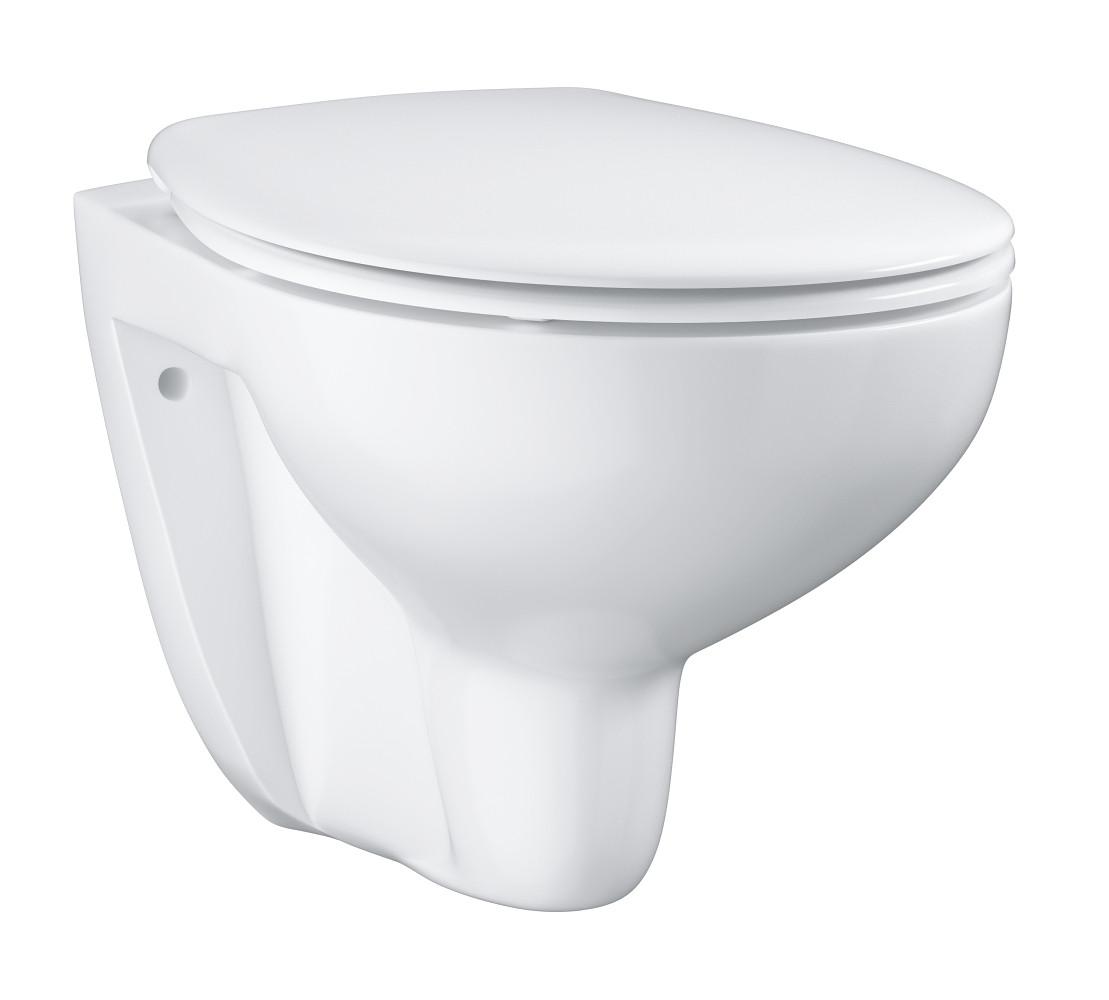 GROHE Унитаз подвесной безободковый bau ceramic в комплекте с сиденьем, микролифт 39351000