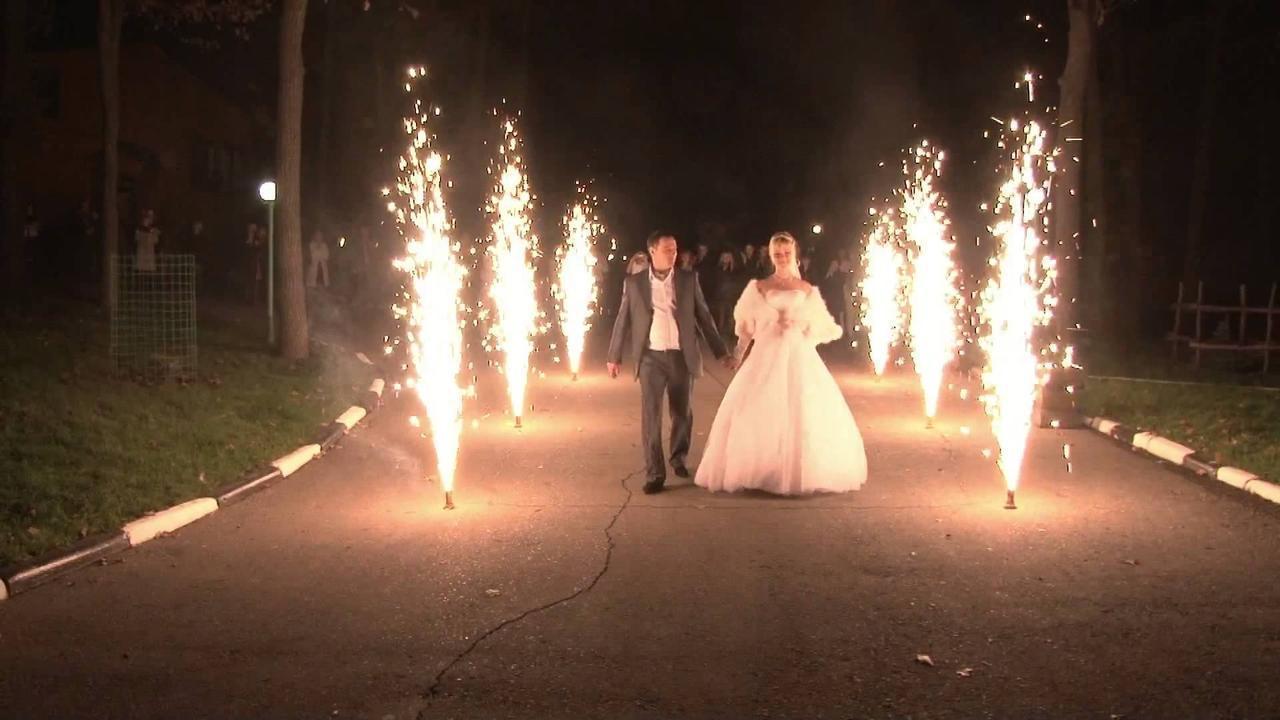 Холодный фонтан для помещения, холодный огонь для свадьбы