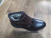 Сапожки зимние кожаные с натуральным мехом, фото 1