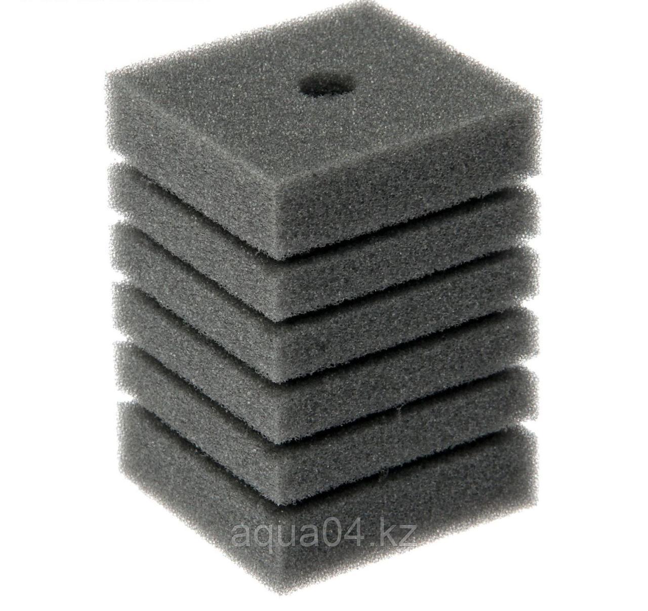 Губка прямоугольная запасная серая для фильтра турбо №11 (10х10х14 см)