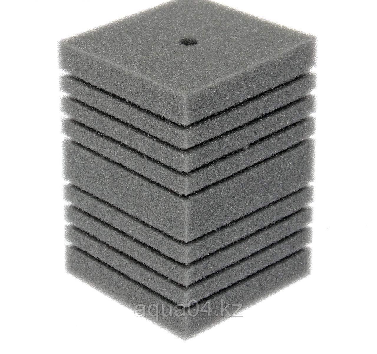 Губка прямоугольная запасная серая для фильтра турбо №17 (14х14х20 см)