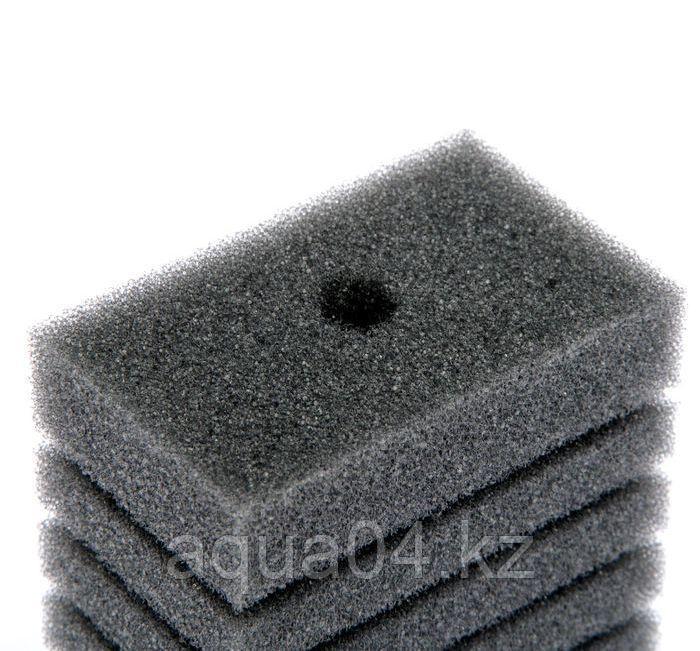 Губка прямоугольная запасная серая для фильтра турбо №18 (6,8х4,6х11.4 см)