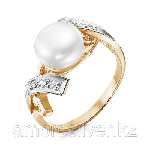 Кольцо из серебра с фианитом  Красная Пресня 23310847Д размеры - 18,5