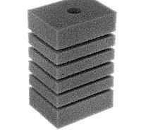 Губка прямоугольная запасная серая для фильтра турбо №20 (6х8х12 см)