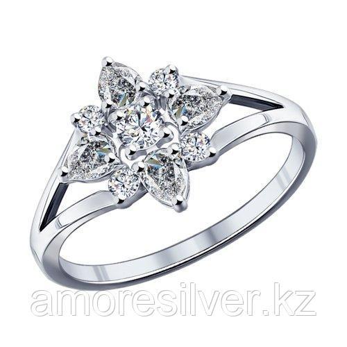 Кольцо из серебра с фианитами  SOKOLOV 94011796