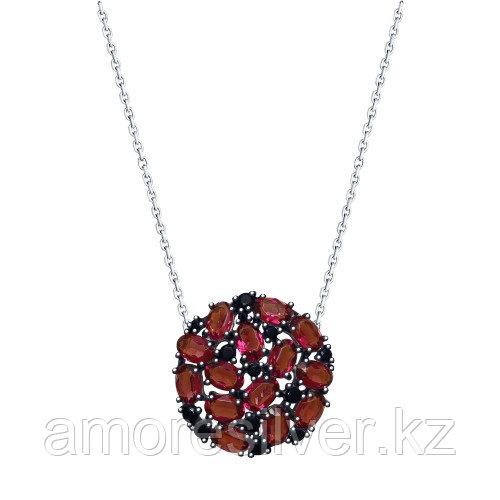 Колье из серебра с сиреневыми кристаллами Swarovski и фианитами  SOKOLOV 94070175