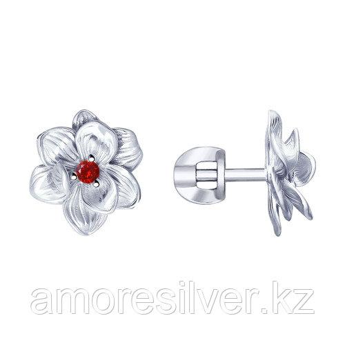 Серьги из серебра с фианитами  SOKOLOV 94023320