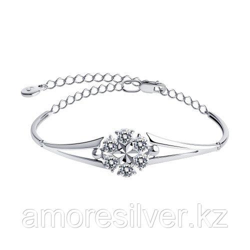 Браслет из серебра с фианитами  SOKOLOV 94050510